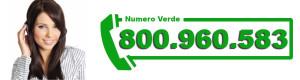 Chiamaci al Numero verde 800.960.583